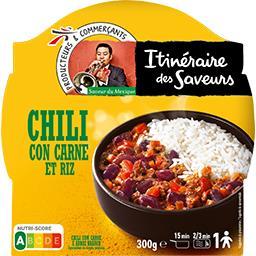 Saveur du Mexique - Chili con carne et riz