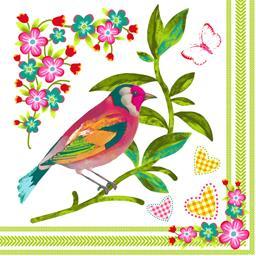Papstar Serviettes 3 plis 33x33 cm Birdie