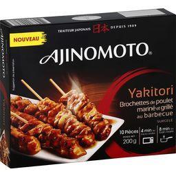 Ajinomoto Brochettes de poulet mariné et grillé au barbecue