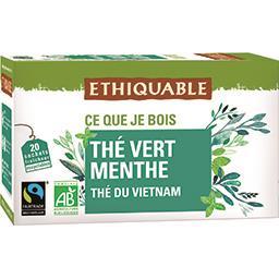 Ethiquable Ethiquable Thé vert du Vietnam menthe BIO les 20 sachets de 1,8 g