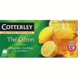 Cotterley Thé noir au citron les 25 sachets de 2g
