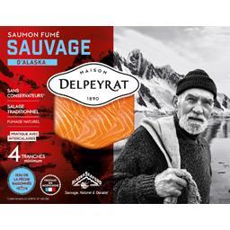 Delpeyrat Le saumon fumé sauvage 4 tranches 120g