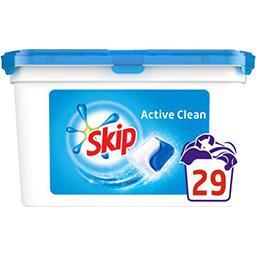 Skip Skip Capsules de lessive Double action Active Clean la boite de 29 capsules - 698 g