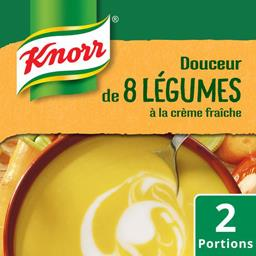 Soupe Douceur de 8 légumes à la crème fraîche