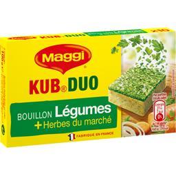 Maggi Maggi Bouillon Kub Duo légumes et herbes du marché la boite de 10 cubes - 105 g