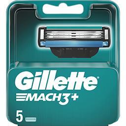 Gillette Gillette Lames de rasoir pour homme Mach3+ La boite de 5 lames