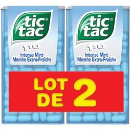 Tic Tac Bonbons menthe extra fraîche les 2 boites de 110 pastilles - 108 g