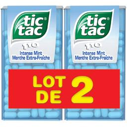 Ariel Tic Tac Bonbons menthe extra fraîche les 2 boites de 110 pastilles - 108 g