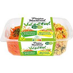 Végétal Duo - Carottes râpées quinoa légumes