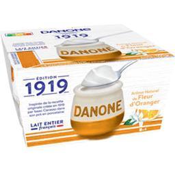 Danone Danone 1919 - Yaourt arôme naturel de fleur d'oranger les 4 pots de 125 g
