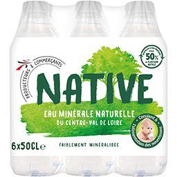 Val de Loire Native Eau minérale naturelle du Centre-Val de Loire les 6 bouteilles de 50 cl