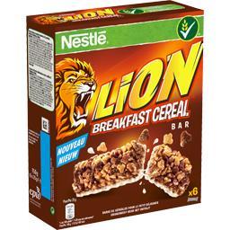 Nestlé Nestlé Céréales Lion - Barre de céréales pour le petit déjeuner les 6 barres de 25 g