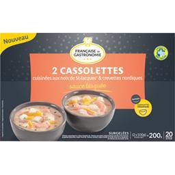 Française Gastronomie Cassolettes aux cuisinées noix de St Jacques & creve... les 2 cassolettes de 100 g
