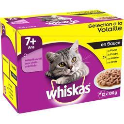 Whiskas Whiskas Sélection à la volaille en sauce pour chat 7+ ans les 12 sachets de 100 g