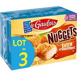 Le Gaulois Le gaulois Nuggets de volaille Extra croustillant les 3 boites de 10 - 3x200 g