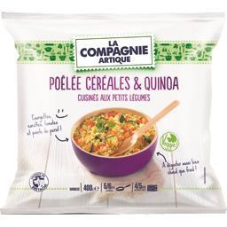 Poêlée céréales & quinoa cuisinés aux petits légumes