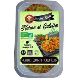 Crêperie de Guerlédan Nature et galettes BIO carotte courgette choux fleur la boite de 2 - 200 g