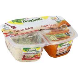 Piémontaise jambon tomates & carottes râpées moutarde