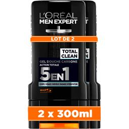 L'Oréal Men Expert de L'Oréal Gel douche carbone Total Clean 5 en 1