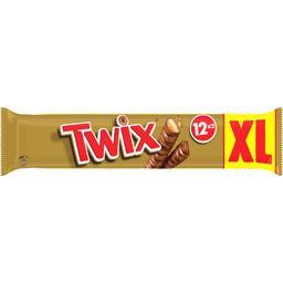 Twix Twix Barres chocolatées biscuit caramel les 12 sachets de 2 barres - 600 g