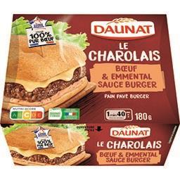 Pavé Le Charolais bœuf/emmental, pain spécial tradit...