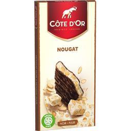 Côte d'Or Côte d'Or Chocolat noir nougat la tablette de 130 g