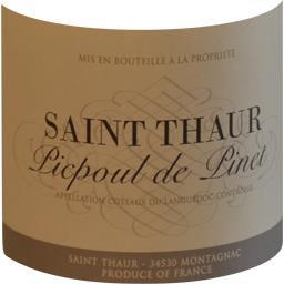 Picpoul de Pinet Saint Thaur, vin blanc