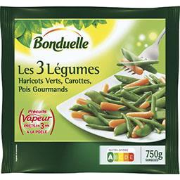 Précuit Vapeur - Les 3 Légumes haricots carottes poi...