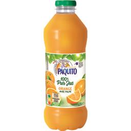 Jus d'orange avec pulpe 100% pur jus
