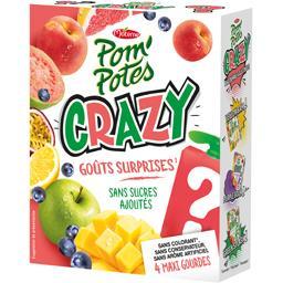 Materne Pom'Potes - Spécialité de fruits Crazy Pink Whaou sa... les 4 gourdes de 120 g