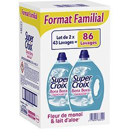 Super Croix Super Croix Lessive liquide Bora Bora fleur de monoï et lait d'aloé le lot de 2 bidons de 2,15 l - Format familial