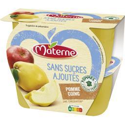 Sans Sucres Ajoutés - Purée pomme coing