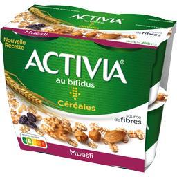 Danone Activia Céréales - Spécialité laitière muesli les 4 pots de 120 g