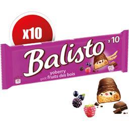 Barres chocolatées goût fruits des bois
