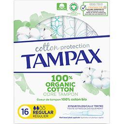 Tampax Tampax Tampons avec applicateur Cotton Protection régulier La boite de 16 tampons