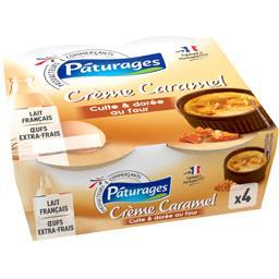 Crème caramel cuite & dorée au four