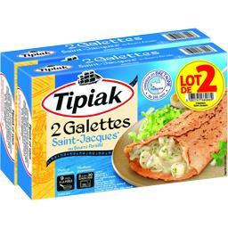 Tipiak Galettes Saint-Jacques au beurre persillé x2 le lot de 2 botes de 250g