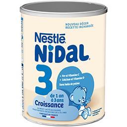 Nestlé Nidal Lait en poudre 3, dès 1 an la boite de 800 g