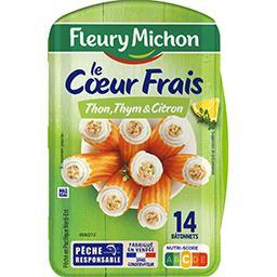 Fleury Michon Fleury Michon Bâtonnets à base de chair de poisson et fromage au thon, citron et thym la boîte de 14 bâtonnets - 224g