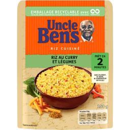 Uncle Ben's Uncle Ben's Riz au curry et légumes le paquet de 250 g