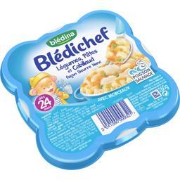 Blédichef - Légumes pâtes et cabillaud façon beurre ...