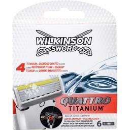 Wilkinson Wilkinson Sword Lames de rasoir Quattro Titanium la boite de 6
