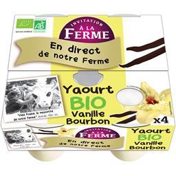 Yaourts Invitation à la ferme Vanille - 4x125g