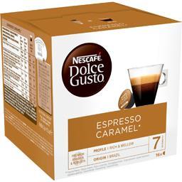 Nescafé Nescafé Dolce Gusto - Capsules de café moulu Espresso caramel les 16 capsules de 5,2 g