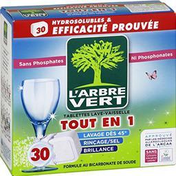 L'Arbre Vert L'Arbre Vert Tablettes lave-vaisselle tout en 1 les 30 tablettes de 18,25 g