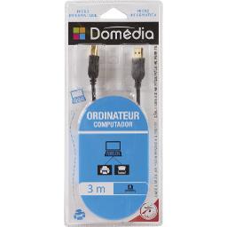 Câble USB 2,0 mâle/mâle HQ ferrite