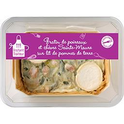 Gratin de poireaux et chèvre Sainte-Maure & pommes de terre