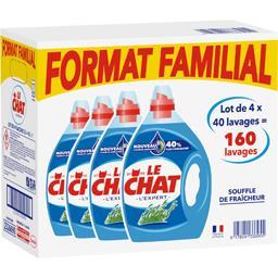Le Chat Lessive liquide Souffle de fraîcheur le lot de 4 bidons de 2 l -