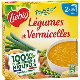 Liebig Liebig PastaSoup - Soupe de légumes et pâtes vermicelles le paquet de 2 briques de 30cl