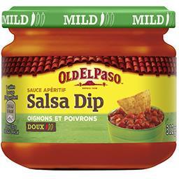 Sauce apéritif Salsa Dip aux oignons et aux poivrons...